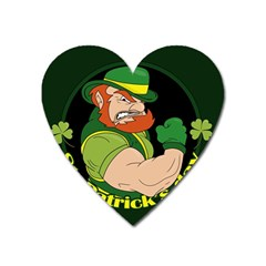 St  Patricks Day Heart Magnet by Valentinaart