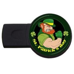 St  Patricks Day Usb Flash Drive Round (2 Gb) by Valentinaart