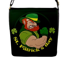 St  Patricks Day Flap Messenger Bag (l)  by Valentinaart