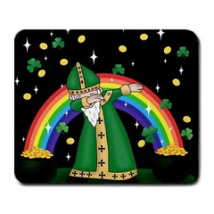 St  Patrick  Dabbing Large Mousepads by Valentinaart