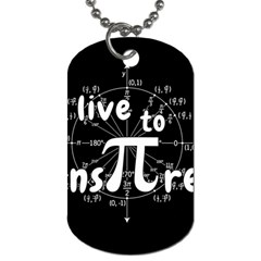 Pi Day Dog Tag (two Sides) by Valentinaart