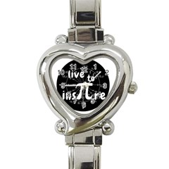 Pi Day Heart Italian Charm Watch by Valentinaart