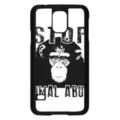 Stop Animal Abuse   Chimpanzee  Samsung Galaxy S5 Case (black) by Valentinaart