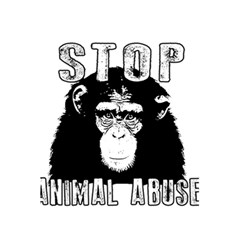 Stop Animal Abuse   Chimpanzee  5 5  X 8 5  Notebooks by Valentinaart