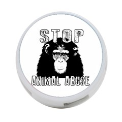 Stop Animal Abuse   Chimpanzee  4 Port Usb Hub (two Sides)  by Valentinaart