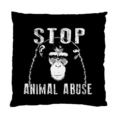 Stop Animal Abuse   Chimpanzee  Standard Cushion Case (two Sides) by Valentinaart