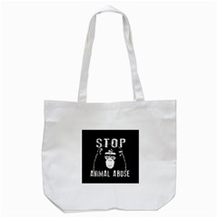 Stop Animal Abuse   Chimpanzee  Tote Bag (white) by Valentinaart
