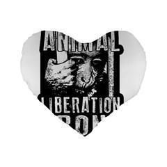 Animal Liberation Front   Chimpanzee  Standard 16  Premium Heart Shape Cushions by Valentinaart
