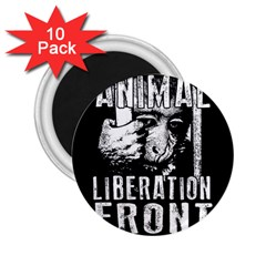 Animal Liberation Front   Chimpanzee  2 25  Magnets (10 Pack)  by Valentinaart