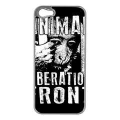 Animal Liberation Front   Chimpanzee  Apple Iphone 5 Case (silver) by Valentinaart