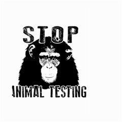 Stop Animal Testing   Chimpanzee  Large Garden Flag (two Sides) by Valentinaart