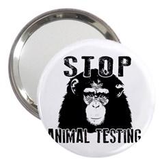 Stop Animal Testing   Chimpanzee  3  Handbag Mirrors by Valentinaart
