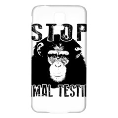 Stop Animal Testing   Chimpanzee  Samsung Galaxy S5 Back Case (white) by Valentinaart