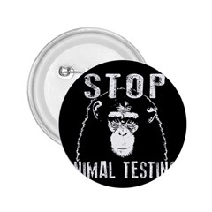 Stop Animal Testing   Chimpanzee  2 25  Buttons by Valentinaart