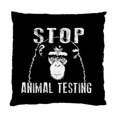 Stop Animal Testing   Chimpanzee  Standard Cushion Case (two Sides) by Valentinaart