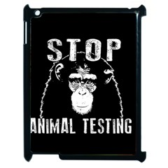Stop Animal Testing   Chimpanzee  Apple Ipad 2 Case (black) by Valentinaart