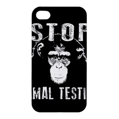 Stop Animal Testing   Chimpanzee  Apple Iphone 4/4s Hardshell Case by Valentinaart