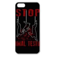 Stop Animal Testing   Rabbits  Apple Seamless Iphone 5 Case (clear) by Valentinaart