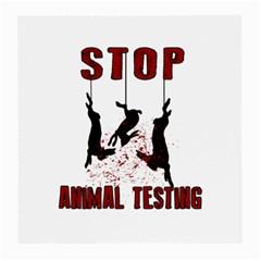 Stop Animal Testing   Rabbits  Medium Glasses Cloth by Valentinaart