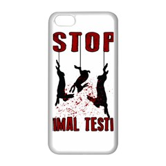 Stop Animal Testing   Rabbits  Apple Iphone 5c Seamless Case (white) by Valentinaart