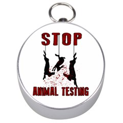 Stop Animal Testing   Rabbits  Silver Compasses by Valentinaart