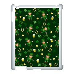 St Patricks Day Pattern Apple Ipad 3/4 Case (white) by Valentinaart