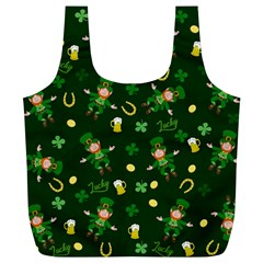 St Patricks Day Pattern Full Print Recycle Bags (l)  by Valentinaart