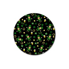 St Patricks Day Pattern Magnet 3  (round) by Valentinaart