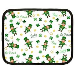 St Patricks Day Pattern Netbook Case (xxl)  by Valentinaart