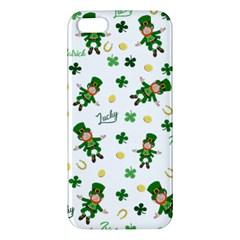 St Patricks Day Pattern Iphone 5s/ Se Premium Hardshell Case by Valentinaart