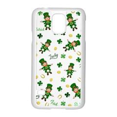 St Patricks Day Pattern Samsung Galaxy S5 Case (white) by Valentinaart