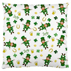 St Patricks Day Pattern Large Cushion Case (one Side) by Valentinaart