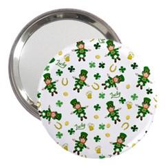 St Patricks Day Pattern 3  Handbag Mirrors by Valentinaart