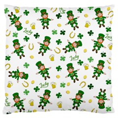 St Patricks Day Pattern Standard Flano Cushion Case (one Side) by Valentinaart