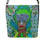 Cosmic Mermaid Large Messenger Bag - Flap Closure Messenger Bag (L)