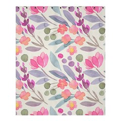 Purple And Pink Cute Floral Pattern Shower Curtain 60  X 72  (medium)  by paulaoliveiradesign