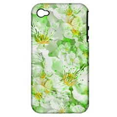 Light Floral Collage  Apple Iphone 4/4s Hardshell Case (pc+silicone) by dflcprints