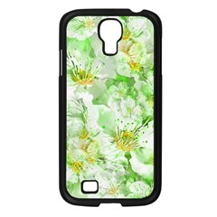 Light Floral Collage  Samsung Galaxy S4 I9500/ I9505 Case (black) by dflcprints