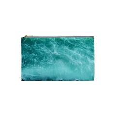 Green Ocean Splash Cosmetic Bag (small)  by snowwhitegirl