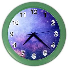 Galaxy Color Wall Clocks by snowwhitegirl