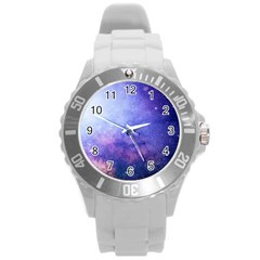 Galaxy Round Plastic Sport Watch (l) by snowwhitegirl