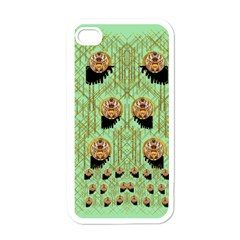 Lady Panda With Hat And Bat In The Sunshine Apple Iphone 4 Case (white) by pepitasart