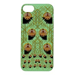 Lady Panda With Hat And Bat In The Sunshine Apple Iphone 5s/ Se Hardshell Case by pepitasart