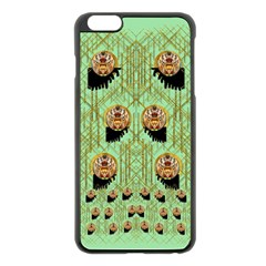Lady Panda With Hat And Bat In The Sunshine Apple Iphone 6 Plus/6s Plus Black Enamel Case by pepitasart