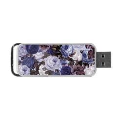 Rose Bushes Blue Portable Usb Flash (two Sides)