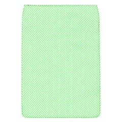 Classic Mint Green & White Herringbone Pattern Flap Covers (s)  by PodArtist