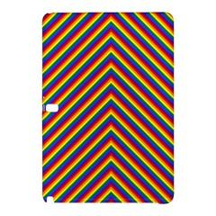 Gay Pride Flag Rainbow Chevron Stripe Samsung Galaxy Tab Pro 12 2 Hardshell Case by PodArtist