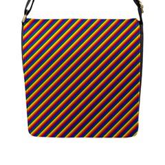 Gay Pride Flag Candy Cane Diagonal Stripe Flap Messenger Bag (l)  by PodArtist