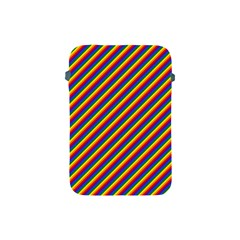 Gay Pride Flag Candy Cane Diagonal Stripe Apple Ipad Mini Protective Soft Cases by PodArtist