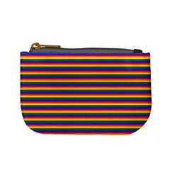 Horizontal Gay Pride Rainbow Flag Pin Stripes Mini Coin Purses by PodArtist
